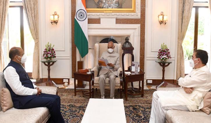 सीएम जयराम ने की राष्ट्रपति रामनाथ कोविंद से मुलाकात, विधानसभा सत्र में आने का दिया न्योता