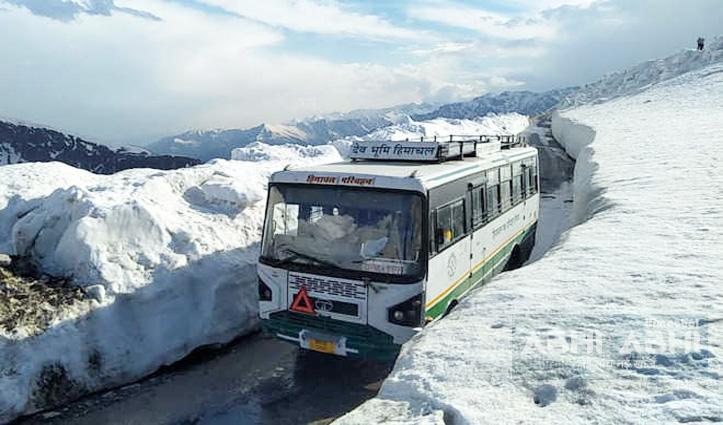 हिमाचल : देश के सबसे लंबे लेह-दिल्ली रूट पर एचआरटीसी ने बंद की बस सेवा