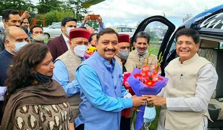 हिमाचल पहुंचे केंद्रीय मंत्री पीयूष गोयल, यहां जाने उनका आज और कल का प्लान