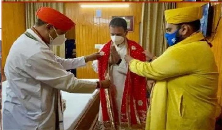 राहुल गांधी पैदल यात्रा कर पहुंचे वैष्णो देवी, आरती में भी हिस्सा लिया