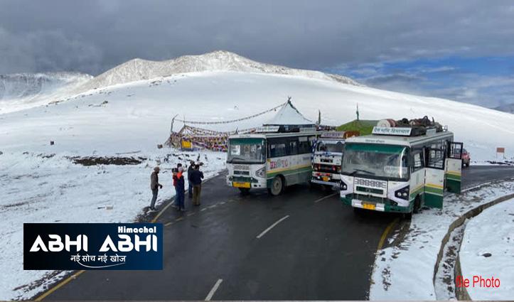 हिमाचल में मौसम ने दिखाए तेवरः केलांग -लेह बस सेवा बंद, शिमला में भूस्खलन