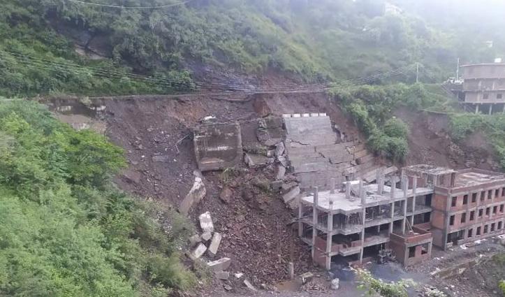 हिमाचलः ज्यूडिशियल अकेडमी के पास एनएच-205 धंसा, इस मार्ग पर किया ट्रैफिक डायवर्ट