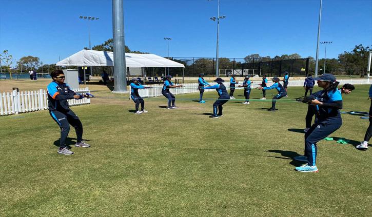 भारतीय महिला क्रिकेट टीम ने ऑस्ट्रेलिया में शुरू की ट्रेनिंग