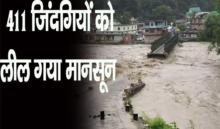 हिमाचल: मानसून के आखिरी दौर में भारी बारिश, कई जगहों पर गिरे पेड़, अब तक 411 लोगों की मौत