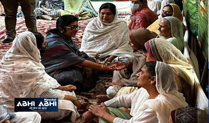 Congress delegation led by Rajani Patil meets Victim families in Srinagar