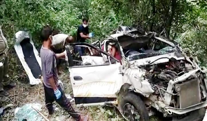 हिमाचल में खाई में गिरी कार, शवों से दुर्गंध आने के बाद हुआ हादसे का खुलासा; चार की मौत