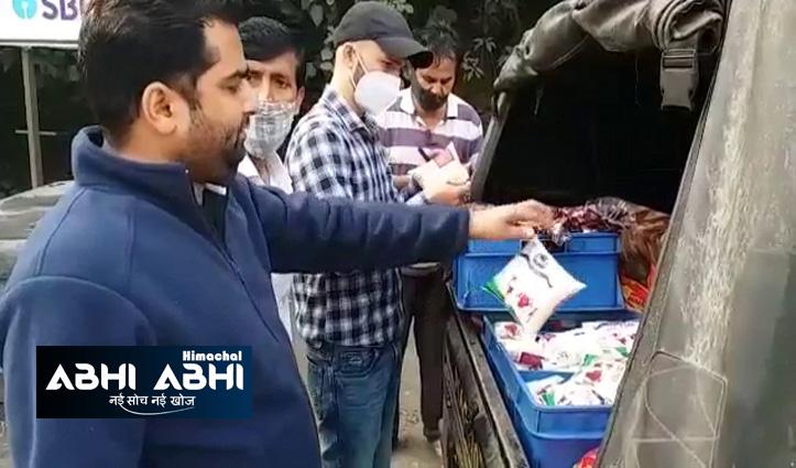 फूड सेफ्टी विभाग हुआ एक्टिवः सुबह-सवेरे नाका लगाकर की खाद्य पदार्थ लेकर जा रही गाड़ियों की चैकिंग