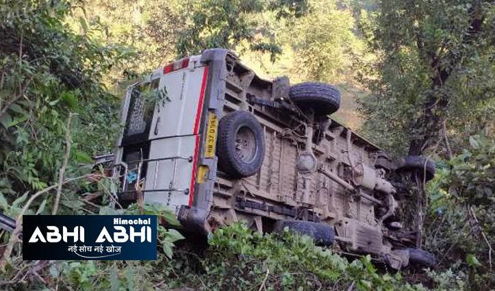 हिमाचलः चंडीगढ़-मनाली मार्ग पर खाई में गिरी हरियाणा के पर्य़टकों से भरी ट्रैवलर
