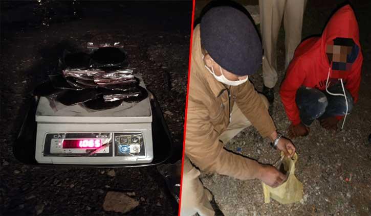 हिमाचलः पुलिस को देख घबरा गया नेपाली, तलाशी लेने पर मिली 1 किलो 65 ग्राम चरस