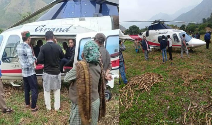शिमला लौट रहे सीएम जयराम के हेलीकॉप्टर की खेत में करवाई इमरजेंसी लैंडिंग