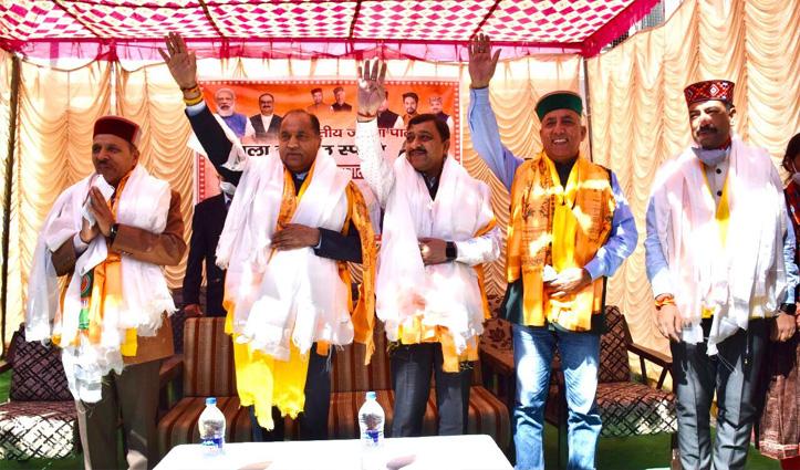 हिमाचल उपचुनाव: लाहुल में गरजे सीएम जयराम, कहा- कांग्रेस जबरन प्रतिभा सिंह को लड़ा रही चुनाव