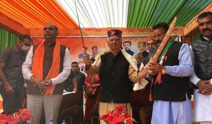 अब शांता कुमार भी कूदे चुनावी रण में, जयराम को बताया खुशहाली वाला सीएम