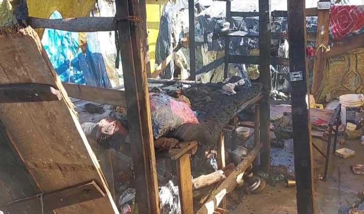 हिमाचल में आग का तांडव, प्रवासियों की झुग्गी-झोपड़ियों में लगी आग, 2 लोग झुलसे