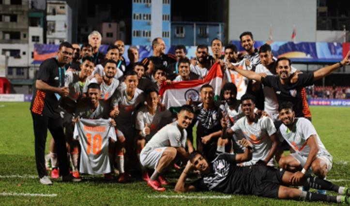 सैफ चैंपियनशिप ट्रॉफीः नेपाल को हराकर भारत ने 8वीं बार खिताब किया अपने नाम