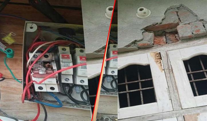 हिमाचल: घर पर गिरी आसमानी बिजली, दीवारों में आई दरारें, बिजली के उपकरण भी जले