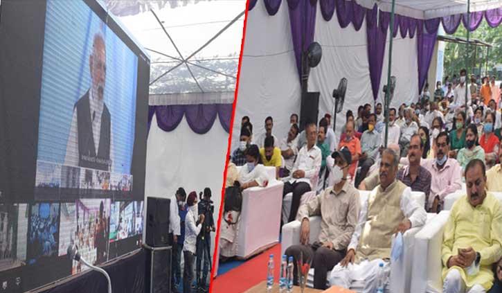 हिमाचल: पीएम मोदी ने पांवटा साहिब अस्पताल के ऑक्सीजन प्लांट का किया वर्चुअल शुभारंभ