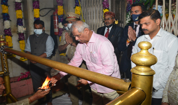 नागरकोट धाम माता बृजेश्वरी मंदिर पहुंचे राज्यपाल