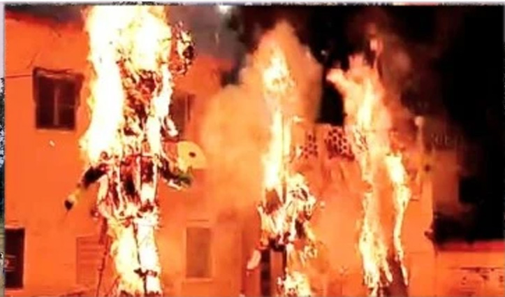 हिमाचल में दशहरा उत्सव की धूम, धू-धू कर जले रावण, मेघनाथ और कुंभकर्ण के पुतले