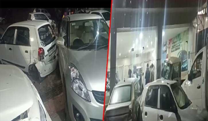 हिमाचल: अनियंत्रित होकर ट्राला शोरूम में घुसा, तीन गाड़ियां क्षतिग्रस्त, वीडियो सीसीटीवी में कैद